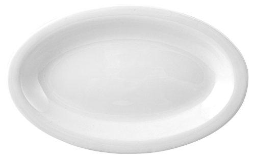 HOTELWARE Ariston Plat Ovale, 28 x 17,5 cm, Porcelaine, Blanc