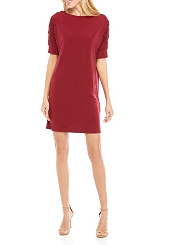 Michael Michael Kors Dolman Sleeve Grommet Dress Dark Brandy XS