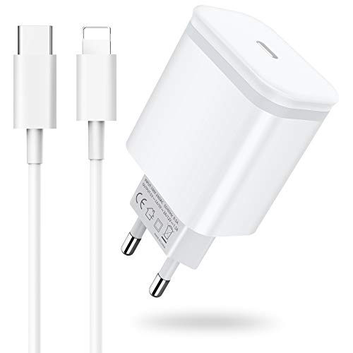 AXIULOO 20W USB C Cargador Replacement for iPhone 12/12 Mini/12 Pro/12 Pro Max/11, Carga Rapida Tipo C Adaptador y 2M Cable, PD 3.0 Pared Enchufe Movil para Phone SE 2020/XS MAX/XR/X / 8 Plus, Pad