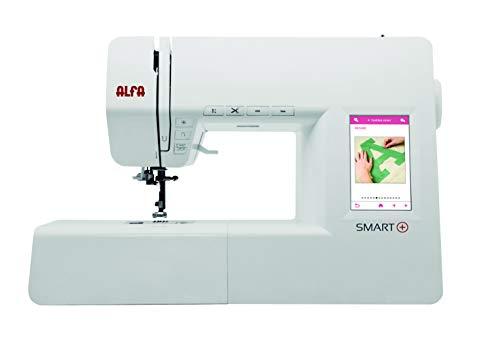 Alfa Smart Plus-Máquina de Coser electrónica, Blanco, 100 Puntadas
