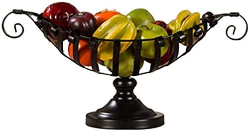 Cesta de frutas y verduras Cesta de frutas Cesta de frutas Cesta de frutas, tazón de frutas, tazón de almacenamiento, estantes de frutas de metal para encimera, tazones de frutas estilo vintage,