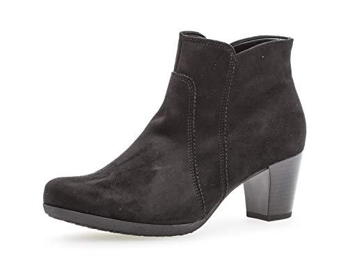 Gabor Damen Ankle Boots 35.680, Frauen Stiefelette,Stiefel,Halbstiefel,Bootie,knöchelhoch,Reißverschluss,schwarz,39 EU / 6 UK