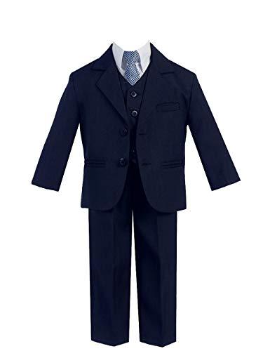 Little Gents Boys Suits Navy Blue - Boys First Communion Suit(Size 7)