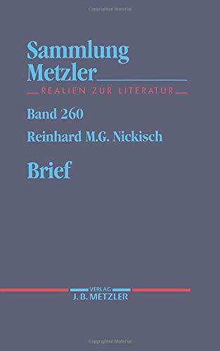 Brief (Sammlung Metzler)