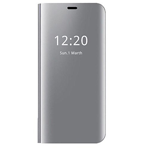 Neivi Coque Compatible pour Samsung Galaxy S7 / S7 Edge Transparent Clair Miroir Couverture S-Vue (Argent, Galaxy S7)