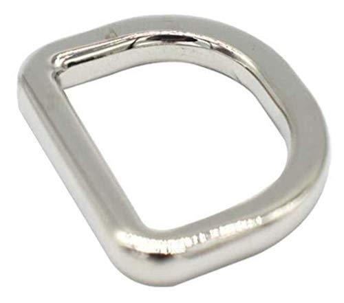 Metal de la aleación del Anillo D Hebillas Sujetadores for Las Correas de Nylon Correa de la Correa de Costura Accessories15mm Accesorios de Costura (Size : 15mm)