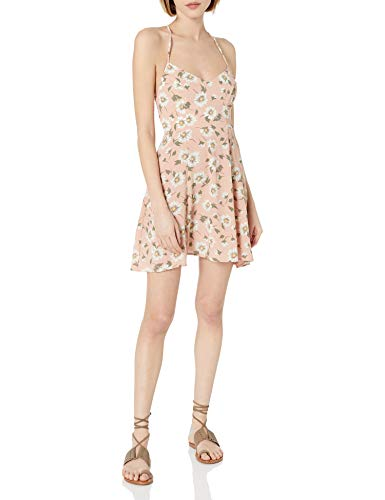 Show Me Your Mumu Damen Victoria Mini Dress with Cross Back and DAISYS Kleid, Gänseblümchen Duke Floral Kiesel, X-Klein