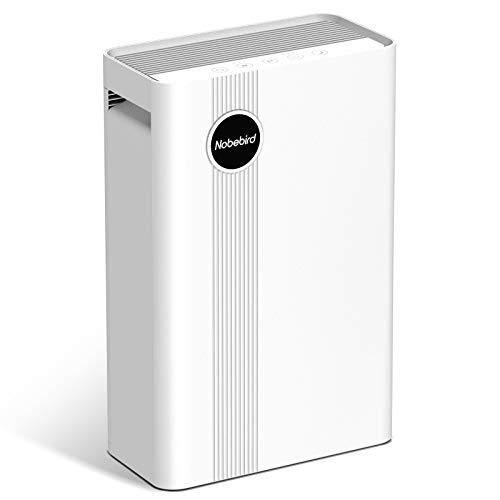 Luftreiniger mit Echtem HEPA-Filter, 4 Filtrationsstufen für Bis 50㎡, Ionengeneratoren, 4 Geschwindigkeiten, 3 Timer, 230 m³/h CADR, Filter Rauch, Staub, Hautschuppen, etc., Perfekt für Zuhause, Büro