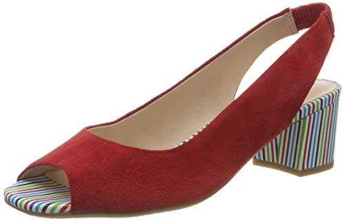 Gerry Weber Shoes Damen Faro 10 Slingback Sandalen, Rot (Rot 400), 42 EU