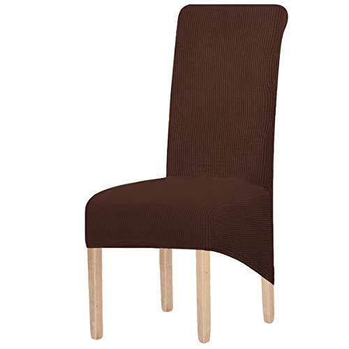 6er Set Stretch Esszimmer Stuhlhussen XL, Abnehmbare Waschbar Stuhlbezug Stuhl Schutzhülle für Wohnkultur Party Hotel Hochzeitszeremonie,für große Esszimmerstühle