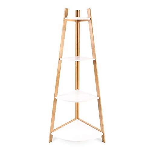 HS-01 Bamboe rekken, multifunctionele planken, keuken meerlagige hoekrekken, 4. Stok van het geheugen Debris standaard, WC opslag Rack/Primair HS-01