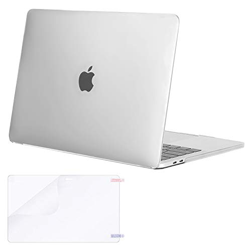 MOSISO MacBook Pro 13 inch Case 2019 2018 2017 2016 Release A2159 A1989 A1706 A1708, Plastic Hard Shell Case&Screen Protector Compatible with MacBook Pro 13 inch with/Without Touch Bar, Frost