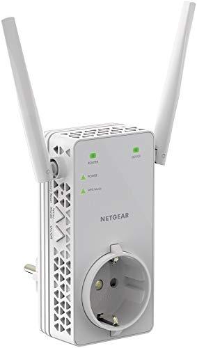 NETGEAR WLAN Repeater EX6130 WLAN Verstärker, integrierte Steckdose, AC1200 Dual Band WiFi, Abdeckung 2 bis 3 Räume & 20 Geräte, Geschwindigkeit bis zu 1200 MBit/s