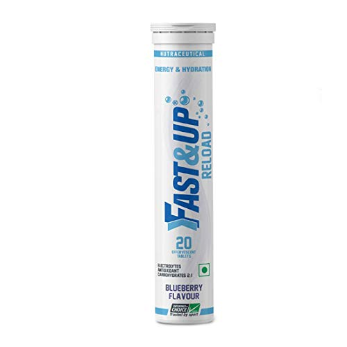 Fast&Up Reload Instant Energy and Hydration Sports Drink - 20 Effervescent Tablets - Blueberry Flavour