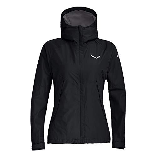 Salewa Damen PUEZ PTX 2L W JKT Regenjacken, Black Out Melange, 46/40