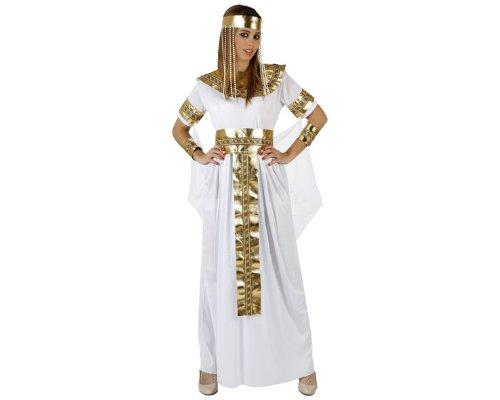 Atosa-96849 Disfraz Egipcia, color blanco, M-l (96849)