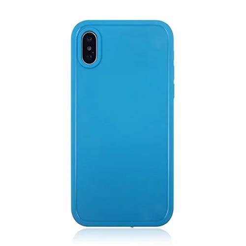 Stijlvolle eenvoud Regenjas Vestal Color Soft Protector Case for iPhone XS Max (zwart) (Color : Blue)