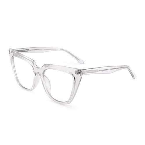 JIM HALO Occhiali da Vista a Luce Blu per Donna Occhiali da Vista Cat Eye Riduci l'affaticamento Degli Occhi