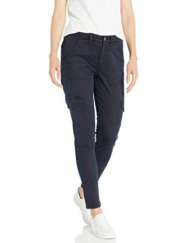 Daily Ritual Stretch Cotton/Lyocell Skinny Cargo pants, Navy, 42 Label:10
