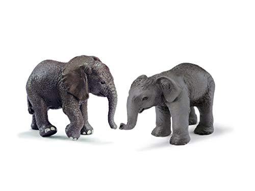 Wildlife - Schleich Elefantenbaby - Afrikanisches Elefantenbaby 14322, Asiatisches Elefantenbaby 14343...