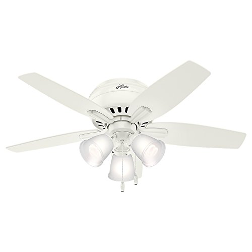 Hunter Indoor Low Profile Ceiling Fan, with pull chain...