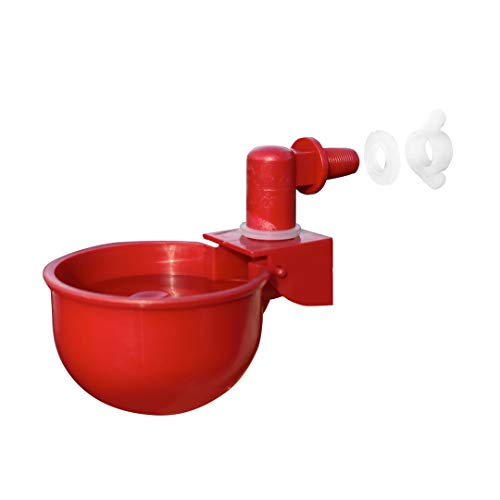 RentACoop Automatic Chicken Water Nipple Cup Waterer Kit for...