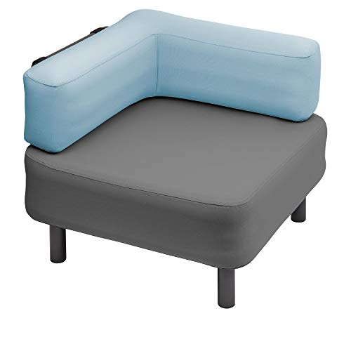 One Bar Element 1 Sessel Aufblasmöbel, Just add air, Mobile Lounge, Luft, Sofa, Couch, Sessel, Outdoor, Garten, Luftpolster, Onebar Farbe:Dark Grey/Oceana Blue