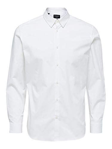 SELECTED HOMME Male Hemd Slim Fit LBright White