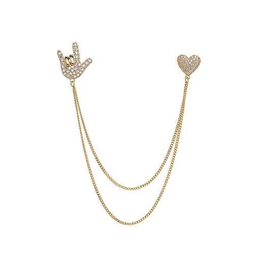xiaokeai Mujer Broches Broches, Cadena de aleación Broche, Moda para Ladies Coat Brooch Pin Accessories Simple Cardigan Accesorios de Gama Alta JoyeríA De Moda (Color : A)