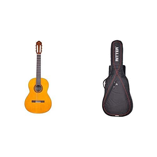 "Yamaha CS40II Guitarra Cadete – Guitarra Clásica 3/4, 580 mm, 22 13/16\"" + Ritter RGP2-CT 3/4 CLASFunda/estuche para guitarra acustica-clasica, con tejido repelente al agua, color negro"