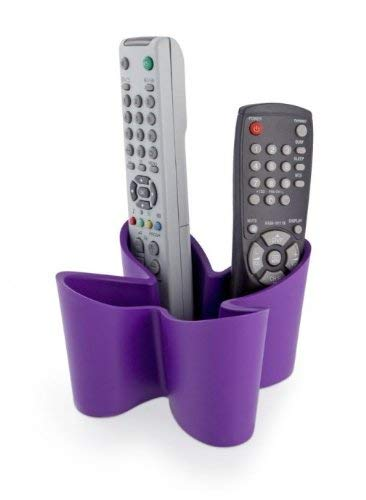 j-me JMECOZY-PPL Range-télécommandes 'Cozy', Violet, Plastique, 13x13x9 cm