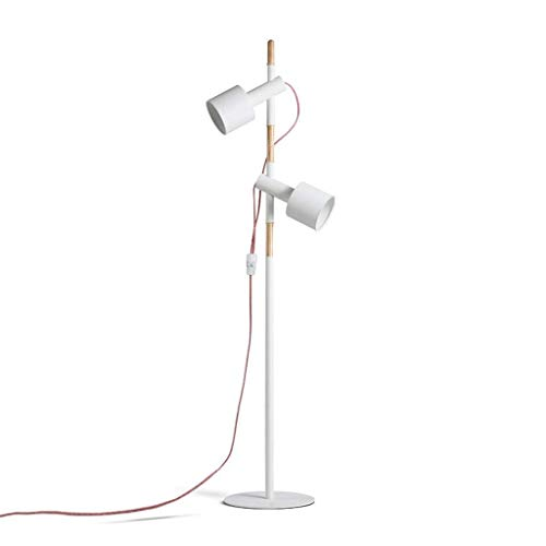 UWY Lámparas de Noche Lámpara de pie Japonesa de Dos Cabezas, lámpara de Mesa de Madera para Sala de Estar de Estudio, Dormitorio, Brazo de lámpara Ajustable