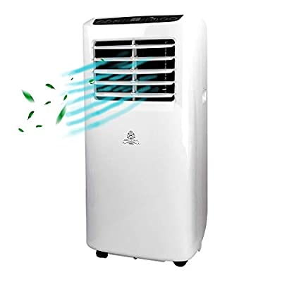 Dorman & Walsh 3 in 1 Air Con Unit - Room Cooling Fan, Portable Air Conditioner Unit, Dehumidifier - 9000 BTU - 15m3 Cooling Range - Mobile for bedrooms, the kitchen, loft, office, gym, living rooms