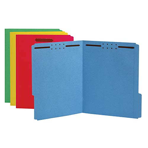 Amazon Basics Fastener Folder - Color, 2 Fasteners 2-Inch Expansion, 1/3 Tab, Assorted, Letter, 50-Pack