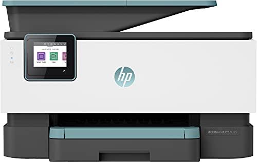 HP OfficeJet Pro 9015 3UK91B, Impresora Multifunción Tinta, Color, Imprime, Escanea, Copia, y Fax, Wi-Fi, Wi-Fi Direct, Ethernet, HP Smart App, Incluye 2 Meses del Servicio Instant Ink, Verde Oasis