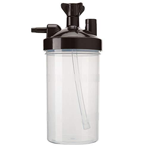 Ladieshow Generador de oxígeno Botellas humidificadoras Generador de oxígeno de plástico Reutilizable Taza de humidificación Concentrador de oxígeno Accesorio de humidificación