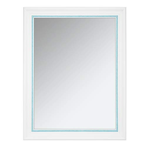 ONE WALL Rectangular Wall Mirror, 23.5x17.5 Inch Bathroom Mirror with White Finish, -
