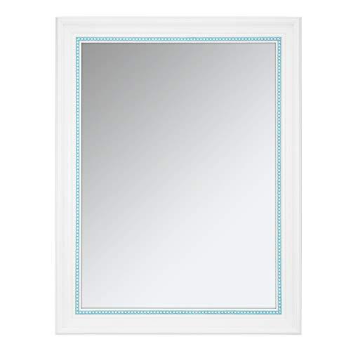 ONE WALL Rectangular Wall Mirror, 23.5x17.5 Inch Bathroom Mirror with White Finish, -