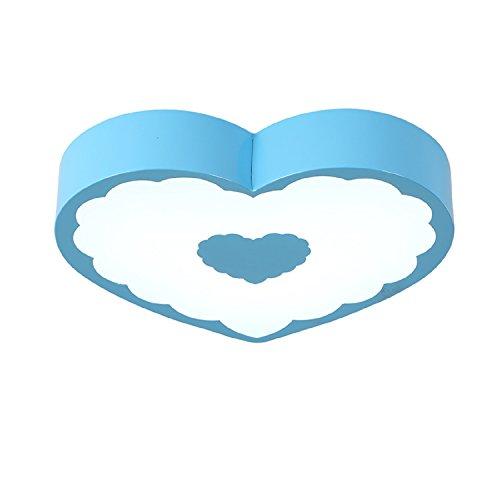 Waineg LED Amour Coeur Enfants Chambre Plafond Lampe Chaude Romantique Creative Salle De Mariage Éclairage Jardin Aire de Jeux Plafond Lampe Éclairage Diamètre 45cm, Lumière Blanche