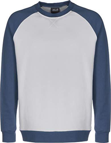 Jack Wolfskin Herren 365 Crew Sweatshirt, Grey Haze, XL