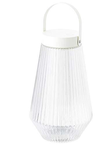 SOLVINDEN Ikea Leuchte LATERNE, LED, für draußen, Garten Deko batteriebetrieben Klarglas, 24 cm