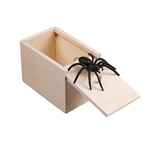 Ashley GAO Caja de Madera de araña, Juguetes de Madera, Broma de Madera, Caja de pánico de araña, Divertidos Juguetes Sorpresa interesantes