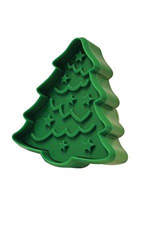 R&M International 0462 - Sello para galletas, diseño de jengibre (8,9 cm), Árbol de Navidad/adorno, Verde, One (1) Double-Sided Stamper, 1