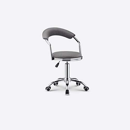 WGZ- Bar stol, snurrstol, barnstol, bar stol, ryggstöd, hem, reception stol, bar stol, avföring mode (Color : Gray)