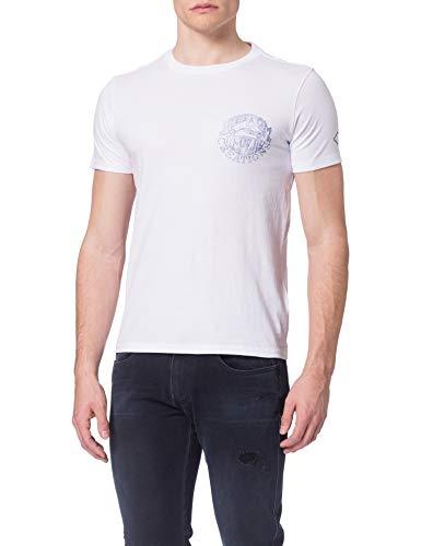 REPLAY M3384 Camiseta, Blanco (001 White), L para Hombre