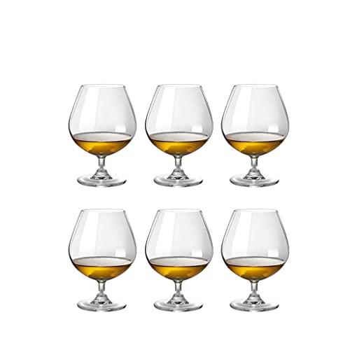 MYHZH Brandy Snifters Conjunto de 6, Gafas de coñac, Copas de Brandy despejadas para los espíritus - Snifters de Vidrio pequeño Whisky, Whisky, borbón - Gafas de cata de Cerveza Cortas