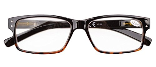 Eyekepper Mens Vintage Reading Glasses-5 Pack,+1.50