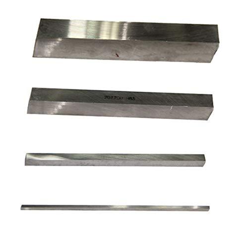 CNC Insertos de Carburo Herramienta de torneado de acero de alta velocidad cuadrada HSS Strip de acero blanco DIY Cuchillos de bricolaje, cuchillos de grabado 4/5/6/8/10/12/14/16/19 / 20mm x (l) 200