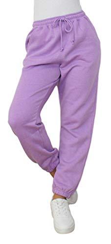 ZJ Clothes Damen-Jogginghose, Fleece, Übergröße, Jogginghose Gr. 36, Flieder
