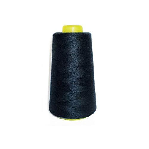 3000Yards Overlocking Thread Yards Máquina de coser Hilos de poliéster industrial Conos Metro (negro)